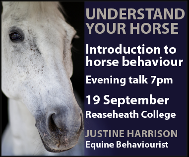 Justine Harrison Talk Reaseheath (Derbyshire Horse)